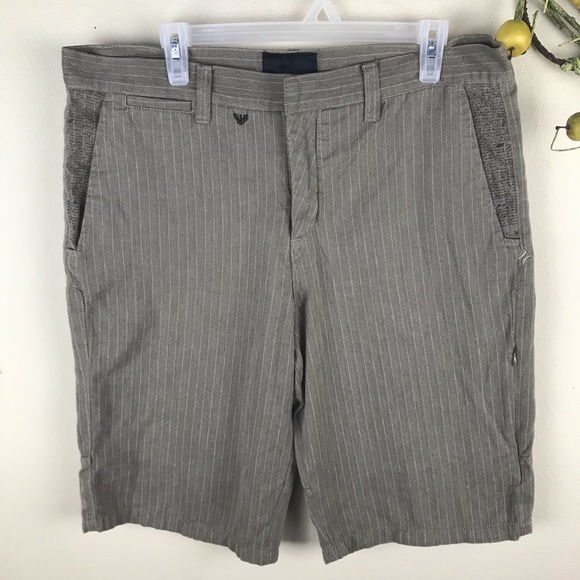 Hurley Other - Hurley Pinstripe Tan Shorts Size 36